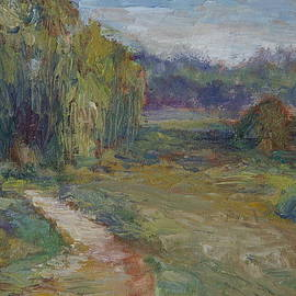 Quin Sweetman - Sunny Morning in the Park -Wetlands - Original - Textural Palette Knife Painting