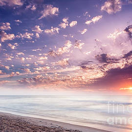 Dawna  Moore Photography - Sunrise at American Beach Amelia Island Florida