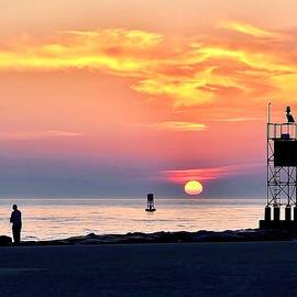 Kim Bemis - Sunrise at Indian River Inlet
