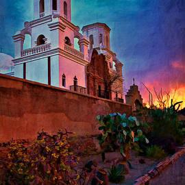 Priscilla Burgers - Sunrise at Mission San Javier del Bac