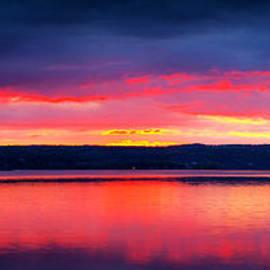 Paul Ge - Sunrise in Cayuga Lake Ithaca New York Panoramic Photography