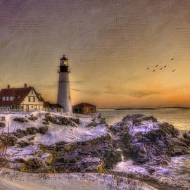 Joann Vitali - Sunrise on Cape Elizabeth - Portland Head Light - New England Lighthouses