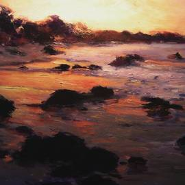 R W Goetting - Sunrise on Moonstone Beach