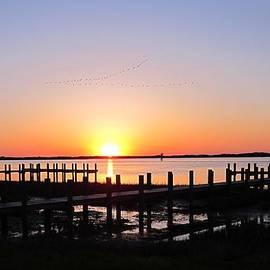 Sven Migot - Sunrise Over Assateague and Ocean City MD