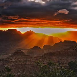 Brian Menasco - Sunrise over Yavapai Pt...