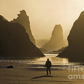 Inge Riis McDonald - Sunset at Bandon Beach Oregon