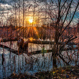Gene Sherrill - Sunset at Beaver Pond