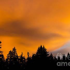Nick  Boren - Sunset At Crater Lake
