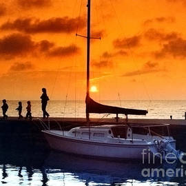 ImagesAsArt Photos And Graphics - Sunset At Egg Harbor Dock Wisconsin