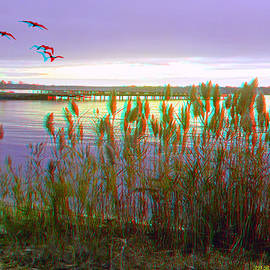 Brian Wallace - Sunset At Fort Smallwood - Use Red/Cyan 3D Glasses