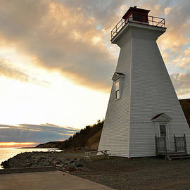 Wendy Nuttall - Sunset at Mabou Harbour Lighthouse