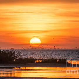 Tod and Cynthia Grubbs - Sunset at Padre Island