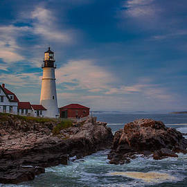 Massimo Lodini - Sunset at Portland Head Light