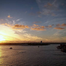 Glenn McCarthy - Sunset At San Diego Harbor