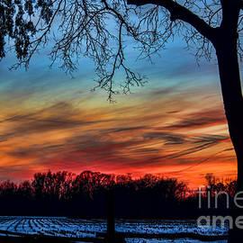 Kathy Liebrum Bailey - Sunset At The Cornfield