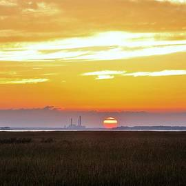 Kim Bemis - Sunset at the Indian River Power Plant