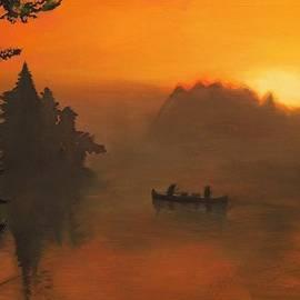 S Kendall Osborne - Sunset Canoe