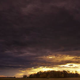 Michael Huddleston - Sunset during passing strom in central Indiana