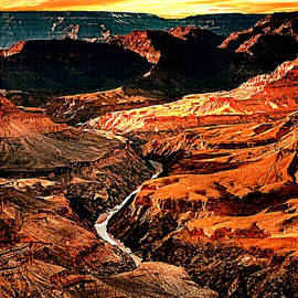 Bob and Nadine Johnston - Sunset Grand Canyon West Rim