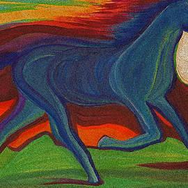 First Star Art  - Sunset Horse by jrr