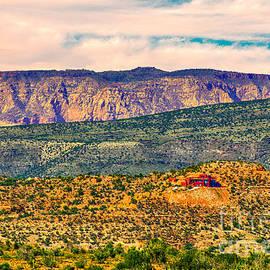 Bob and Nadine Johnston - Sunset in Cottonwood View is N Towards Sedona Arizona