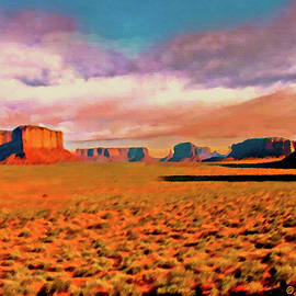Bob and Nadine Johnston - Sunset in Monument Valley