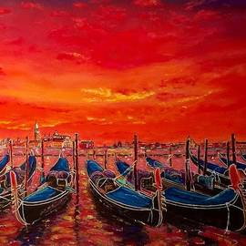 Ugo Paradiso - Sunset in Venice