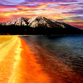 Bob Johnston - Sunset Lake Tahoe Painting
