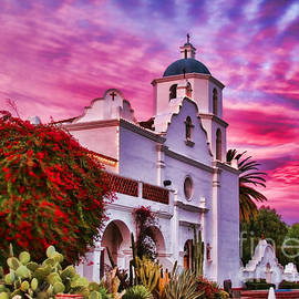 Diana Sainz - Sunset Mission San Luis Rey de Francia By Diana Sainz
