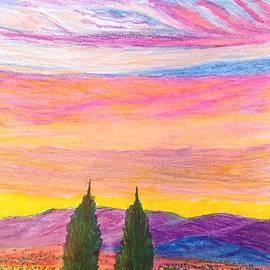Christine Degyansky - Sunset on A Small Desert Town