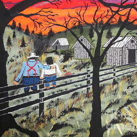 Jeffrey Koss - Sunset on the fence