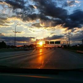 Jenny Moran - Sunset On The Highway Tonight.. #city