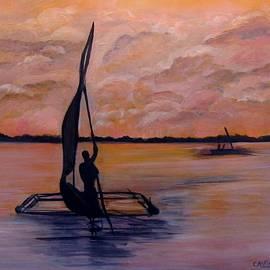 Carol Allen Anfinsen - Sunset on the Nile