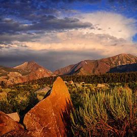 Lynn Bauer - Sunset on the Rocks
