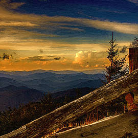 John Haldane - Sunset on Top of Mount Mitchell