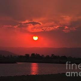 Blair Stuart - Sunset over Hope Island