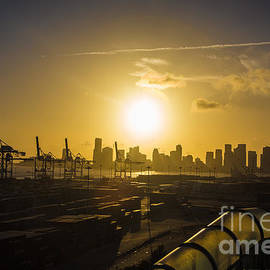 Rene Triay Photography - Sunset Over Miami and Miami