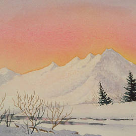 Teresa Ascone - Sunset over Snowy Mountains
