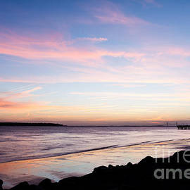 Dawna  Moore Photography - Sunset Over St. Simons Sound St. Simons Island Georgia