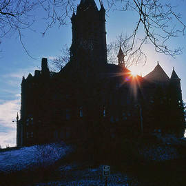 Thomas D McManus - Sunset over Syracuse University Building
