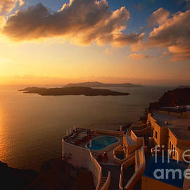 Aiolos Greek Collections - Sunset over the Aegean sea