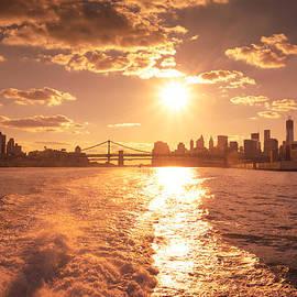 Vivienne Gucwa - Sunset over the New York City Skyline