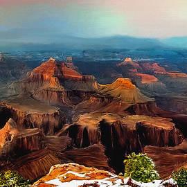 Bob and Nadine Johnston - Sunset Powell Memorial Grand Canyon South Rim