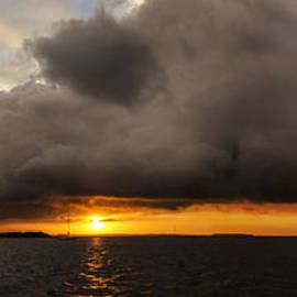 Island Sunrise and Sunsets Pieter Jordaan - Sunset Rain Cloud