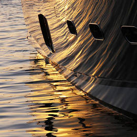 Sunset Reflections With Boat No 1