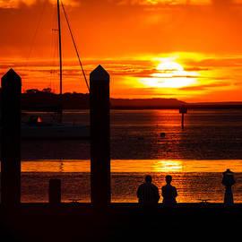 Dawna  Moore Photography - Sunset Soul Mates Sunset at the Fernandina Beach Marina Florida