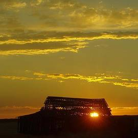 Jeff  Swan - Sunset Through An Old Barn