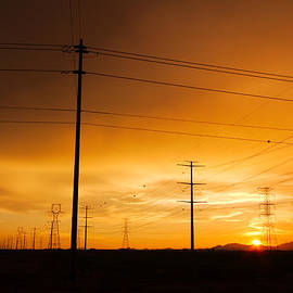 Ed  Cheremet - Sunset Through the Grid