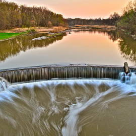 Frozen in Time Fine Art Photography - Sunset Waterfall