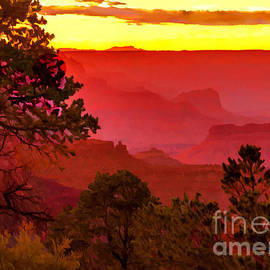Bob and Nadine Johnston - Sunset Yaki Point Grand Canyon